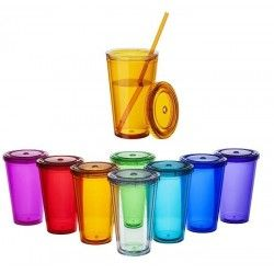 Vaso con Pajita Cyclone 450ml