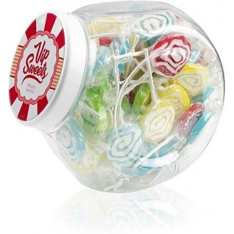 Caramelos Large Jar Mixed Lollipops