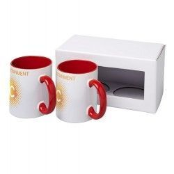 Set de regalo de 2 tazas de sublimación Ceramic 330ml