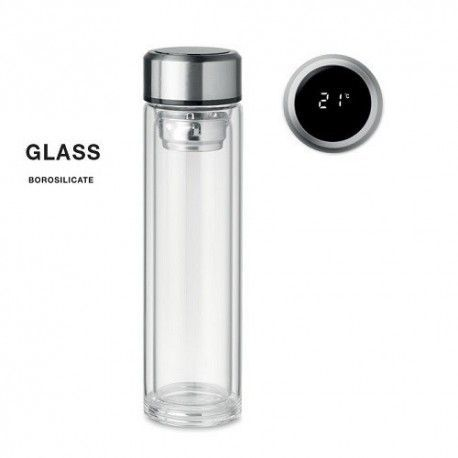 Botella Pole Cristal Borosilicato 390ml